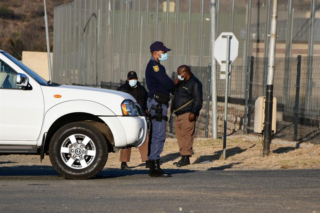 ESTCOURT, SOUTH AFRICA - JULY 08: Police at Estcou