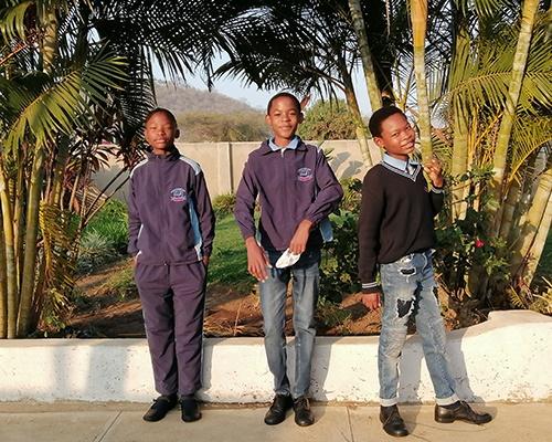Children in school uniform