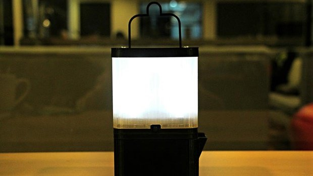 Forget kerosene. This lamp runs off salt water