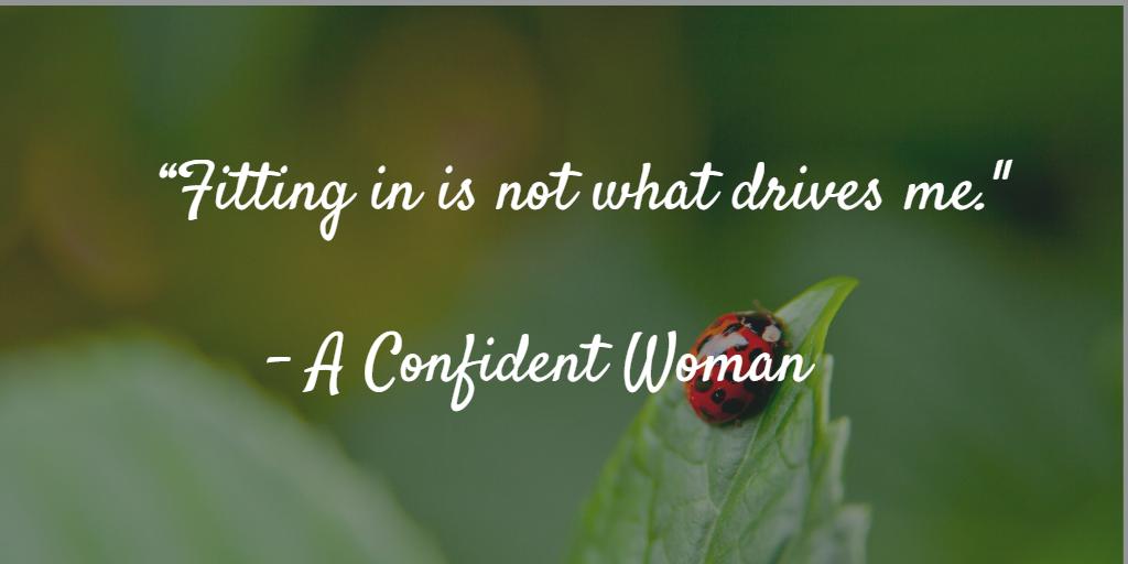 Confident woman quote