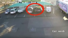 WATCH: Casual thief strolls over to car at petrol garage