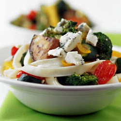 Blue cheese and vegetable pasta