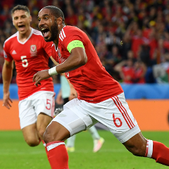 Ashley Williams scores for Wales (Getty Images)