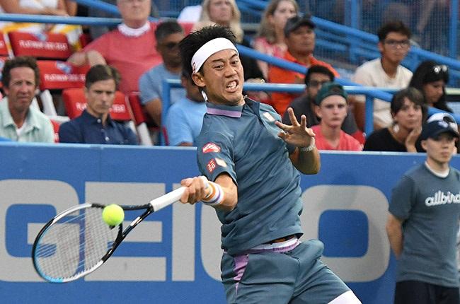 Kei Nishikori. (Photo by Mitchell Layton/Getty Images)