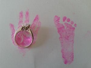 Preemie hand and foot print