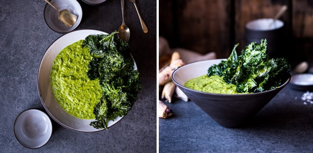 kale, tumeric, coconut, soup, dinner, recipe, vege