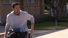 Darryn August remains positive, wants to speak for people with disabilities