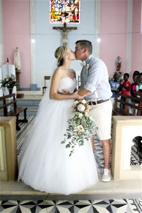 The bride and groom <br />