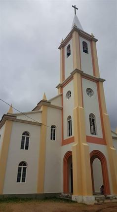 The church where the couple wed<br />
