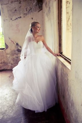A moment of reflection for the bride<br />