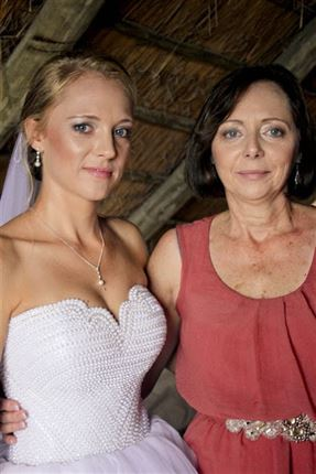 Carien, pictured with her mother<br />