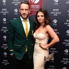 Faf du Plessis and partner (Gallo Images)