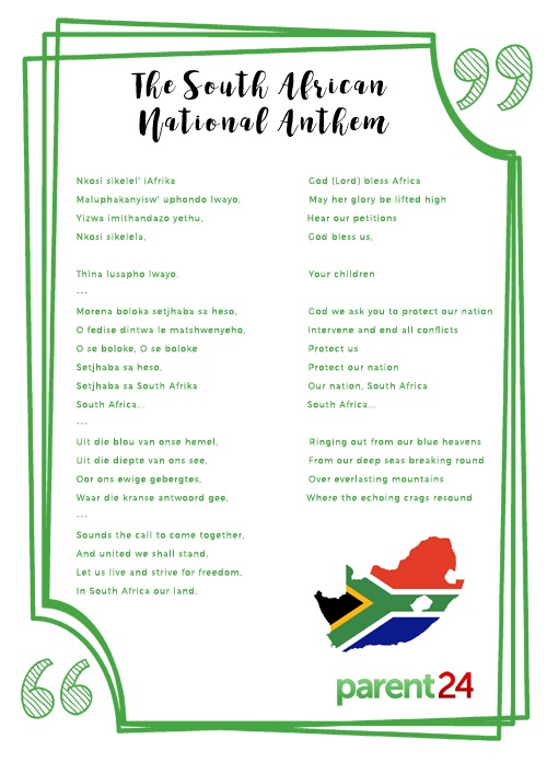 photo relating to National Anthem Lyrics Printable called PRINT: The phrases towards the South African nationwide anthem Mum or dad24