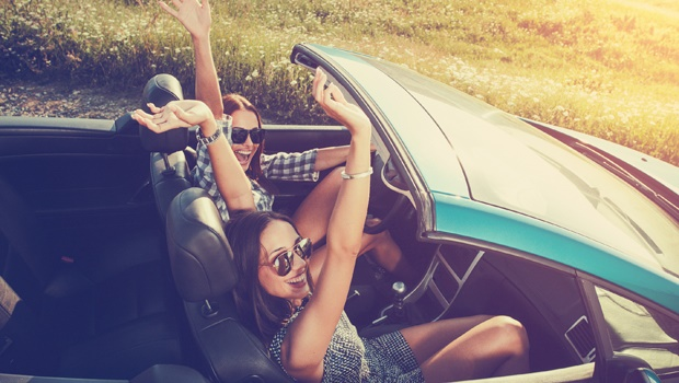 women,car,happy