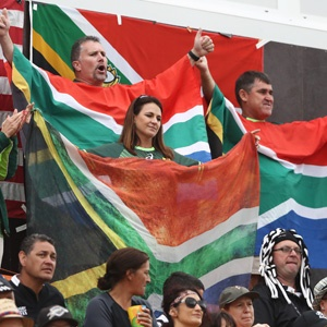 South African fans at the Rio Sevens (Getty)