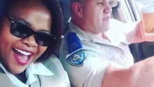 WATCH: North West traffic cops jam to Mandoza's Nkalakatha
