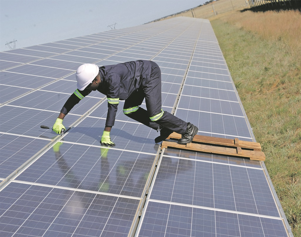 Solar panels and other renewable energy resources are part of the government's Renewable Energy Independent Power Procurement Programme. Picture: Lucky Nxumalo