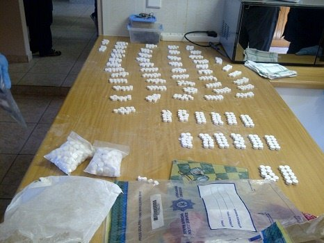 Cocaine recovered by police.