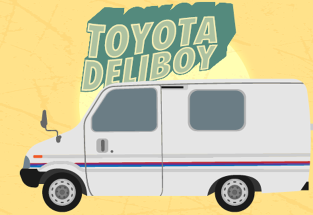 calling a car a deliboy probably isnt the best idea but in all honesty the worst crime of this truck isnt the name its the bonnet