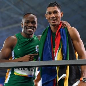 Akani Simbine and Wayde van Niekerk (Getty Images)