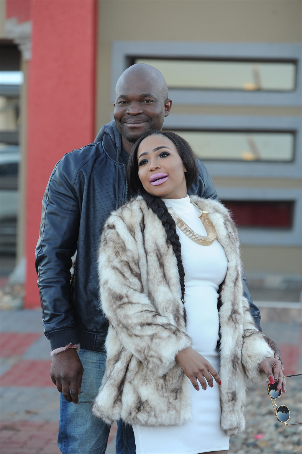 Mshoza with her husband-to-be Thuthukani Mvula posing together for the very first time. Picture: Lucky Nxumalo