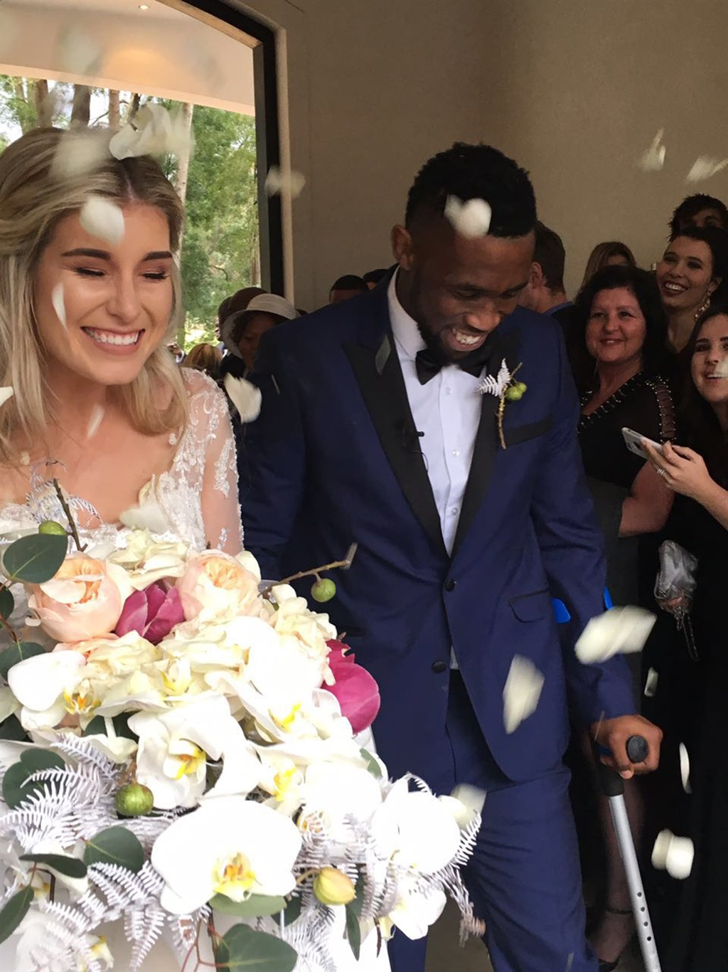 Rugby player Siya Kolisi and Rachel tie the knot Picture: Justin Davis