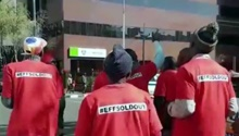 WATCH: Protesters dub EFF sell outs in Joburg