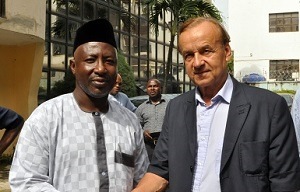 Mohammed Sanusi and Gernot Rohr