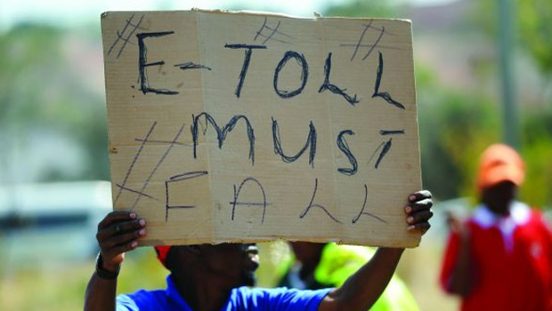 Protesting against e-tolls in Gauteng. (File photo)