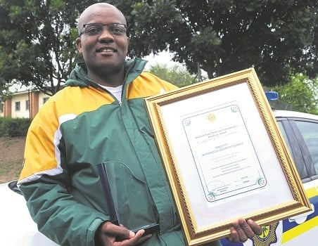 Pietermaritzburg police spokesperson Sergeant Mthokozisi Ngobese is the service's KZN Man of the Year for 2016. Ngobese received the award at the police's provincial excellence awards in Durban on Friday.
