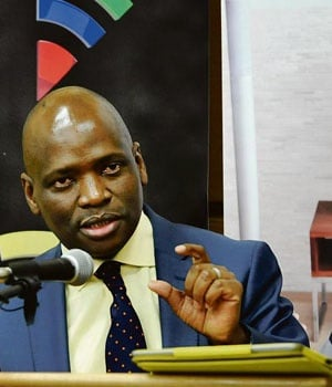 SABC chief operating officer Hlaudi Motsoeneng. (Simone Kley)