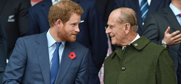 Prince Harry and Prince Philip. (Photo: Getty Images)