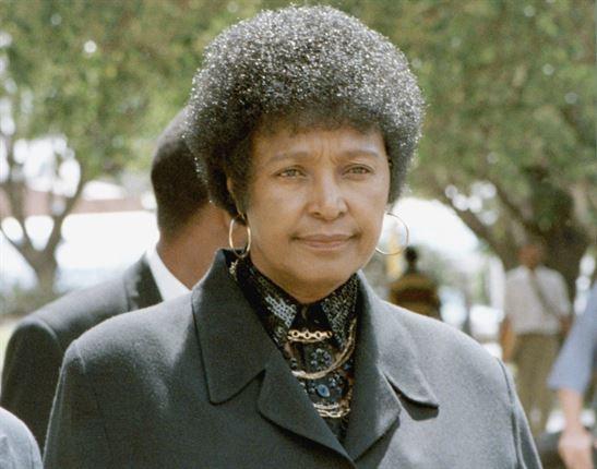 Winnie Madikizela-Mandela in 1996.