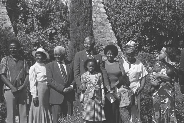 Walter Sisulu, Nelson, Winnie, Albertina Sisulu and the Mandela family