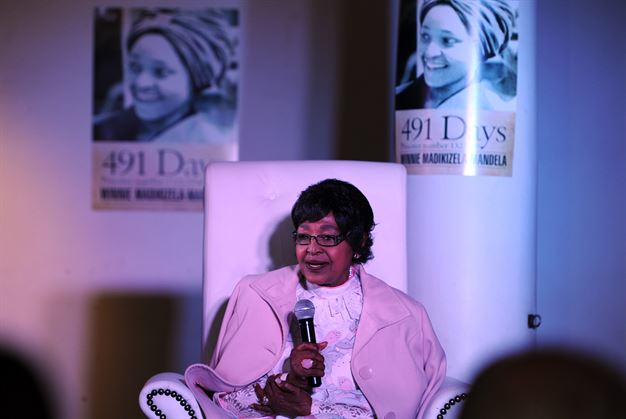 Mama Winnie at the launch of her book