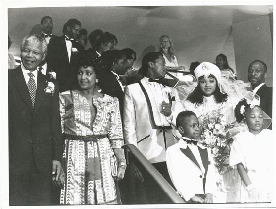Nelson and Winnie at a family wedding