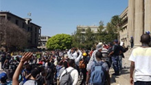 WATCH: Wits students, security in turbulent hail of stones