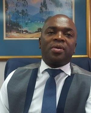Tshwane mayor Solly Msimanga speaking to News24 (Karabo Ngoepe)