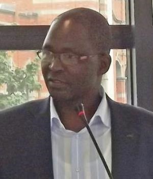 Msunduzi Mayor Chris Ndlela at the media launch of the State of the City address yesterday.