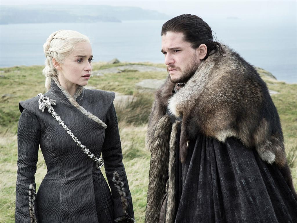 "Daenerys Targaryen and Jon Snow in ""Game of Thrones."""