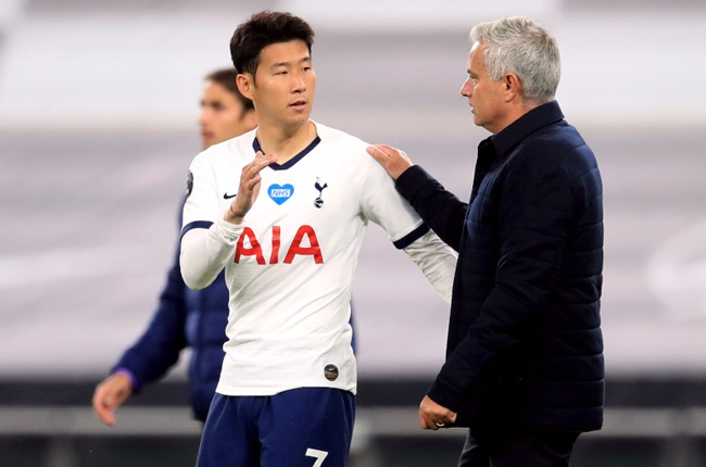 Jose Mourinho and Son Heung-Min (Getty Images)