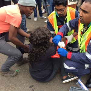 UKZN student injured during protests.