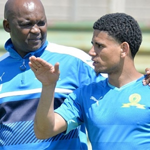 Pitso Mosimane and Keagan Dolly (Gallo Images)