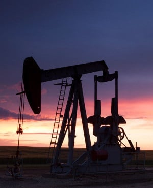 An oil pumpjack.