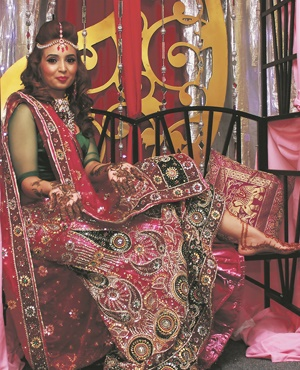 Tharuna Hiralal (27) adorned with henna on her hands and feet ahead of her wedding to Zaheer on Heritage Day. (Harsheen Patel)
