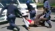 WATCH: Shrieks as police hoist Rhodes student limb-by-limb