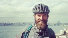 Actor cycles over 12,000 kms for student fees