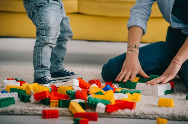 Mother and son playing with Lego blocks. (PHOTO: GALLO IMAGES/GETTY IMAGES)
