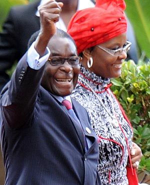 Zimbabwean President Robert Mugabe and his wife Grace. (File, AFP)