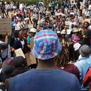 Protesting UCT students.
